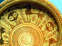 Cup with Warriors and Horses, Getty Villa (EmperorNorton47) Tags: malibu california gettyvilla photo digital summer interior museum ancientgreece greek classicalgreece drinkingcup drinkingbowl