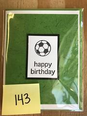 Soccer ball card (artnoose) Tags: letterpress grass source paper clover deepinkletterpress wholesale card birthday happy ball soccer green