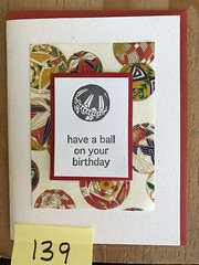 Have a ball on your birthday (artnoose) Tags: letterpress ball happy birthday deepinkletterpress red card wholesale chiyogami