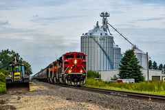 Out of the Siding (JayB Photos) Tags: fxe unloading crisp historic grainelevator warm clouds mexico ferromex stewardil