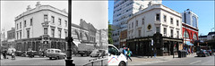 Edgware Road`1956-2019 (roll the dice) Tags: london westminster w2 paddington marylebone streetfurniture architecture old local history sad mad surreal retro fifties bygone nostalgia comparison oldandnew pastandpresent hereandnow urban people fashion england uk classic art boozer pub publichouse beer ale drinking corner market victorian edwardian combesbrownale sweeper vanished demolished watneys muslim traffic travel arabs transport sky passengers entrance flyover changes collection canon tourism tourists windows chimney van lights trees