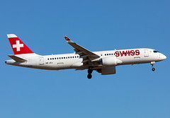 HB-JCJ Swiss A223 (twomphotos) Tags: plane spotting pmi lepa evening nice light landing departing 24r 24l runway aviation swiss airbus a223 cs300 bombardier cseries