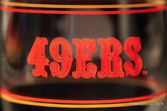 49ers Glass II (Desdanova) Tags: glass gold macro macromondays red stockton california unitedstatesofamerica nine