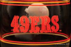 49ers Glass I (Desdanova) Tags: glass gold macro macromondays red stockton california unitedstatesofamerica