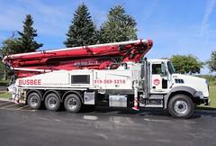 Busbee Concrete Services, Inc. Truck (raserf) Tags: busbee concrete cement services pump pumper pumping truck trucks mack putzmeister sturtevant wisconsin racine county benson north carolina