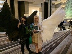 Crowley and Aziraphale, Good Omens (marakma) Tags: dragoncon dragoncon2019 cosplay crowley aziraphale goodomens