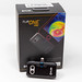 Tiny thermal imaging camera FLIR ONE Pro LT for Android devices, in front of the dark packaging box