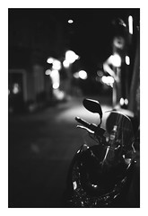 *September, The cool fall breeze fills the night. (niko**) Tags: leica leicam2 noctilux50mmf10 e60 kodak trix400 135 35mm filmphotography yokohama