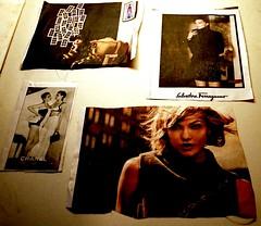 cut-outs (bluebird87) Tags: newspaper cutouts film kodak ektar nikon f100 epson v600 ads fashion woman