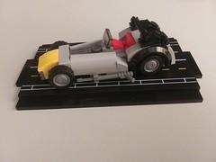 Mini LEGO Caterham (Grey) (DarkNecrofear) Tags: lego caterham lotus seven sports car mini