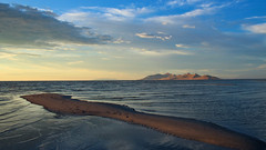 Antelope Island (phl_with_a_camera1) Tags: salt lake utah sunset water evening antelope island landscape