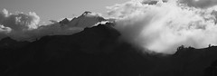 Baker (bombeeney) Tags: bw blackandwhite ptarmiganridge artistpoint washington pnw hiking mist fog clouds mtbaker mountains