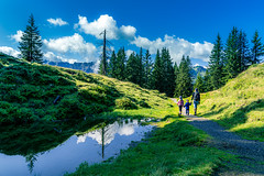 Follow The Water (freundsport) Tags: family sony7m3 summer sky people water tamron mountains reflections austria hiking tree landscape