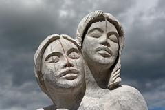 Sculpture de Maria de Esperança Matos (Portugal) (Nicopope) Tags: nikon d7100 sculpture sculptrice sprimont 2016 portugal de maria esperança matos pierre bleue petit granit art artiste