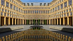 Batman (Rob Oo) Tags: ccby40 deventer gemeentehuis gimp holland nederland thenetherlands ro016b batman architecture reflection symmetry abstract