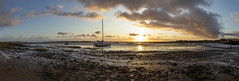 Estuary Sunset (Kev Gregory (General)) Tags: mite irt esk rivers panorama kev gregory canon 6d mark ii 2 cumbria england uk golden hour sun set sunset reflections water