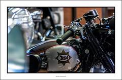 A BSA motorcycle (G. Postlethwaite esq.) Tags: bsa canon40d canonefs60mmmacro dof nationalmotorcyclemuseum beyondbokeh bokeh depthoffield motorcyle photoborder primelens selectivefocus