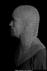 raphael de profil n&b 1 (villatte.philippe) Tags: raphael profilnbcamaillemedievalestudionikond200gimpflash medieval moyen age gimp studio nikon d200 raph v