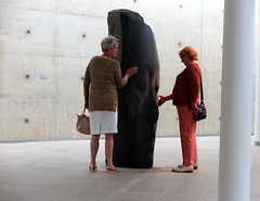 [What do you feel?] (pienw) Tags: museum sculpture plensa museumbeeldenaanzee candid sanna