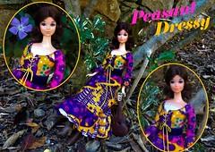 PEASANT DRESSY (ModBarbieLover) Tags: 1971 peasantdress doll fashion mod 1972 missamerica barbie walklively outdoors dress toy mattel vintage folksinger