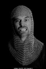 raphael de face camaille n&b (villatte.philippe) Tags: raphael camail portrait face nb nikon d200 studio gimp raph v