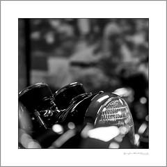 The Prince of Darkness rises (G. Postlethwaite esq.) Tags: british dof joelucas nationalmotorcyclemuseum princeofdarkness beyondbokeh bokeh closeup depthoffield headlamp motorcyle photoborder selectivefocus