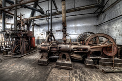 Steam Engines (Fine ArtFoto) Tags: urbex artfoto gestern dream wwwfineartfotocom urban exploration urbexart urbandecay lost place lostplaces lostplace decay decaying discard discarded old oblivion alt abandoned forgotten vergessen verlassen derelict aufgegeben rotten verottet dampmaschine maschinenhalle steam engine hall power flywhells belts belt drive riemenantrieb antrieb riemen sonya7riii