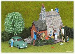 "Prepare to Sell (photozaki) Tags: preparetosell thatchedhouse thatchedcottage cottage house thatcher builders repairs houserepairs cat dog car garden closeup macro olympus garden"""