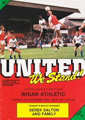 Rotherham United vs Wigan Athletic - 1986 - Cover Page (The Sky Strikers) Tags: rotherham united wigan athletic millmoor we stand official matchday programme football league division three 50p