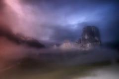 ... della stessa sostanza dei sogni (Gio_guarda_le_stelle) Tags: dolomiti colomites dolomiten 5torri sunset afterglow crepuscolo landscape mountainscape dream blue fog sera