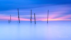 End of the day (Ellen van den Doel) Tags: natuur landscape sunset rockanje nature long nederland outdoor evening zee sea le beach landschap strand exposure seascape zonsondergang kase filters netherlands hellevoetsluis zuidholland