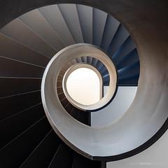 Shades (bjoernahrensfotografie) Tags: architektur architecture minimal spiral lookup abstract stairs staircase treppe treppenhaus escalier