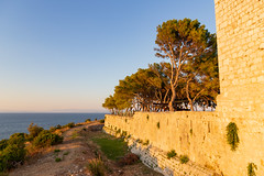 George the Third Fortress on Vis island, Croatia with a view to the Adriatic Sea