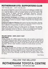 Rotherham United vs Wigan Athletic - 1986 - Page 18 (The Sky Strikers) Tags: rotherham united wigan athletic millmoor we stand official matchday programme football league division three 50p