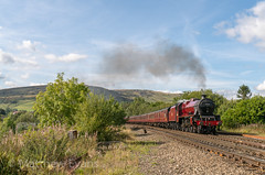 Cloud dodging (MJREphotography) Tags: 45699 galatea ecs chinley chapel en le frith peak district steam train railway locomotive north junction signal box west coast company br british railways lms jubilee