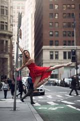 (dimitryroulland) Tags: nikon d750 85mm 18 dimitryroulland red dress dance dancer natural light pointe performer art artist newyork ny nycity buildings urban street