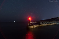 I will guide you home. (Diane Rocks 3M views. Thank you) Tags: guiding safety harbour light ship boat whitby longexposure stars orionsbelt night nightphotography water northsea northyorkshire fishermen red beacon