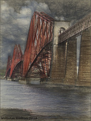 Forth Bridge(Scotland) (williamwalton001) Tags: pentaxart scotland unescoworldheritagesite buildings bridge water sky landscapephoto colourimage river railway