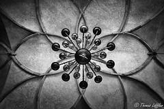 room ceiling (funtor) Tags: bw detail architecture building symmetry prague castle mono art