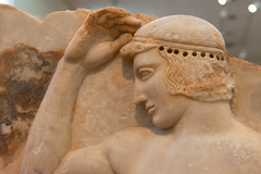 """Self-crowning Athlete"" - AUTOSTEPHANOUMENOS - II (Egisto Sani) Tags: sounion sunio polykleitos style"" museoarcheologiconazionale policleto ""temple ""severe ""tempio ""stile severo"" athena"" autostephanoumenos athens di archaeological archeologico 3344 eleusis atene ""national ""no museum"" sculpture"" ""museo nazionale"" ""marble eleusi atena"" kynisckos 3344"""