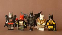 The New Batmen (th_squirrel) Tags: lego dc comics batman junk metal fireman demon mummy yellow lantern batbarf