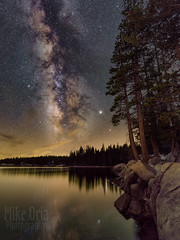 Lake Alpine (mikeSF_) Tags: california lakealpine alpine mountains lake night longexposure water reflection trees forest astro astrophotography mw galaxy milkyway stars mikeoria pentax 645 645z dfa25 25mm 254 lightpaint stack scenic landscape outdoor