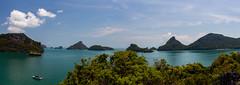 Inselhüpfen (Jörg Kage) Tags: asien thailand nationalparkmukoangthong insel island wasser meer wolken clouds himmel sky boot reisen travel eos700d canon canoneos700d canonlens panorama