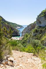 Way to Stiniva Bay on Vis island, Croatia