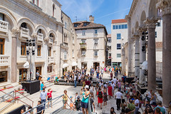 Touristen in Split, Kroatien