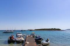 Ankerplatz an der Blauen Lagune auf der Insel Veli Budikovac, Kroatien