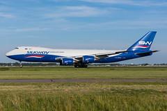 VQ-BBH Silk Way West Airlines Boeing 747-83QF (5B-DUS) Tags: vqbbh silk way west airlines boeing 74783qf b748 ams eham amsterdam schiphol airport aircraft airplane aviation flughafen flugzeug planespotting plane spotting