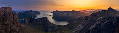 Views of Senja (One_Penny) Tags: canon6d hiking landscape mountains mountainscape nature norway photography scandinavia senja fjord sea water peak sunrise sky colorful scenery rocks sun panorama summit