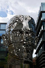 Metalmorphosis by David Cerny (Victoria Lea B) Tags: czechrepublic prague reflection sculpture metalmorphosis davidcerny
