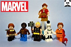 [Marvel Minifigs #04] (HaphazardPanda) Tags: lego figs fig figures figure minifigs minifig minifigures minifigure purist purists character characters comics comic book books story group super hero heroes superhero superheroes marvel squirrel girl werewolf by night thunderstrike hyperion white tiger cletus kasady carnage spiderman great lakes avengers thor midnight sons
